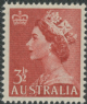 AUS SG262a 3½d Queen Elizabeth II brown-red definitive no wmk